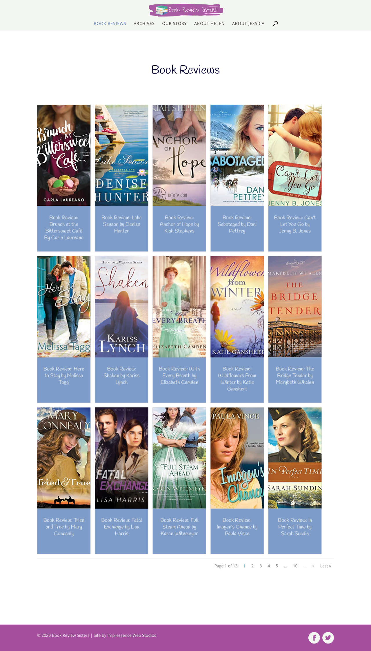 Book Review Sisters Website Redesign
